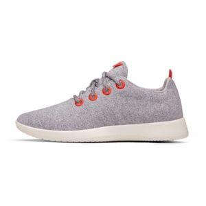 Allbirds Gray Orange Wool Runners Sneakers 5